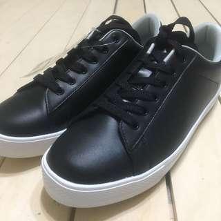 無印良品 MUJI 休閒鞋 真皮 黑色