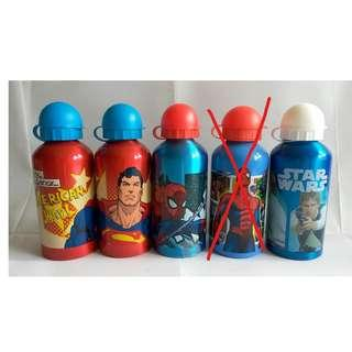 Disney 耐熱水樽 500ml - C(Spiderman, superman, star wars 超人)