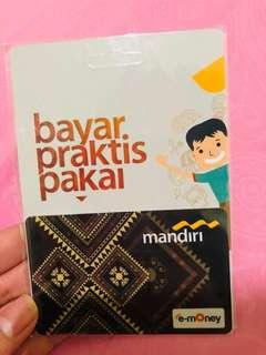 Emoney / e-money / e-toll mandiri card
