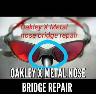 98ae6a4e8 Oakley Juliet Penny Romeo X XX Metal Squared Sunglasses Nose Bridge Coupler  Replacement Lenses repair restore