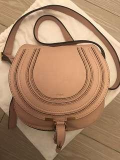 Chloe Marcie Crossbody Bag Small Pale Pink