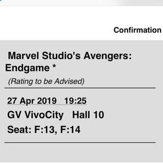 *original price* Avengers: Eng Game!!! Let go extra tickets with original price!!!