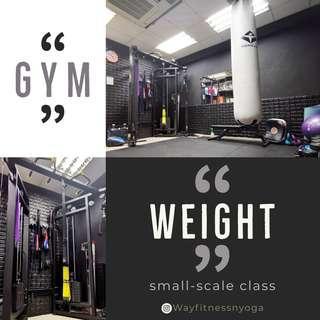 Gym weight group class yoga 瑜伽 空中瑜伽 小組 運動 出汗減肥