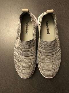 Hotwind 全新灰色織線鞋