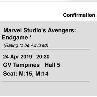 *original price* Avengers: End Game!!! Let go extra ticket with original price!!!