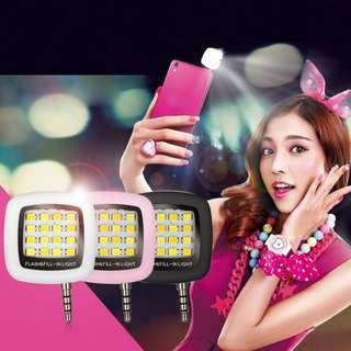 NEW Portable Rechargeable 16 Selfie Flash LED Camera Lamp Light For iPhone Samsung HTC LG Hwawei mobile Phones