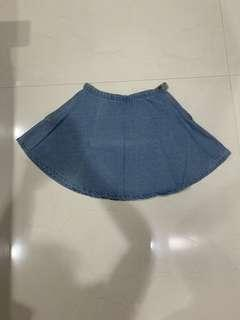Flare Jeans Skirt American Apparel