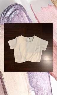 White crop top