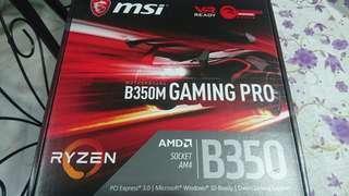 MSI B350m Gaming Pro Motherboard AM4 Ryzen
