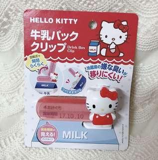日貨 kitty 牛奶盒夾 飲料盒夾 三麗鷗