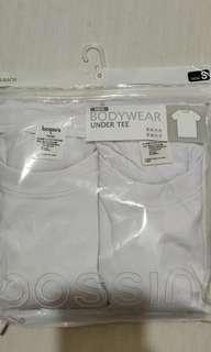 全新bossini 白色短袖底衫 (一pack兩件 正價$80)有5pack 全要$160