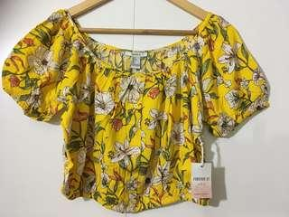 Brand NEW Forever 21 Floral Crop Top