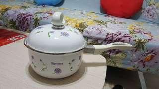 🚚 [日本Recona] 薰衣草琺瑯單柄鍋16cm搪瓷鍋(電磁爐可用)