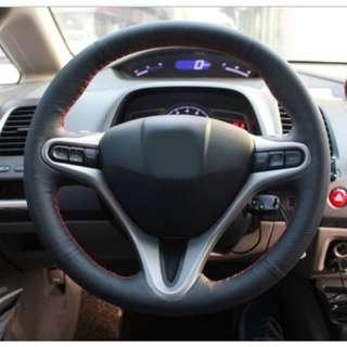 Honda civic fd cover steering diy hand sewing stitch