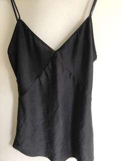 Wilfred Aritzia silk black camisole small
