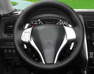Nissan sylphy teana cover steering hand stitch sewing