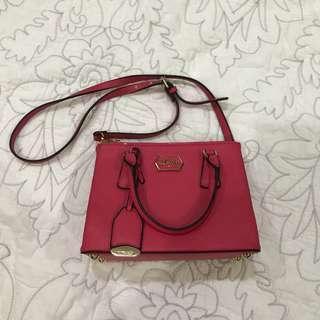 Inspired Prada pink sling bag