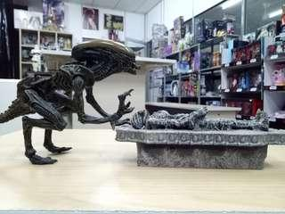 Alien Dog & Tomb Set.