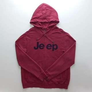 Jeep Red Zipper Hoodie
