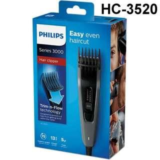Philips HC3520 Cordless Hair Clipper  waaranty from Philips