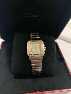 🚚 Cartier santos watch. 18 karats &stainless steel  complete papers inc box.