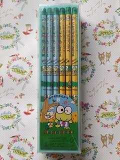 Sanrio Keroppi 1992 絕版 盒裝 鉛筆