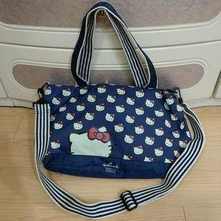 (減價) 9成新 日本購 Hallmark Design Hello Kitty 深藍色袋