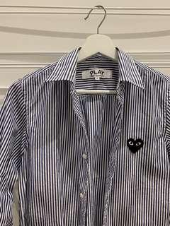 Authentic CDG PLAY striped shirt