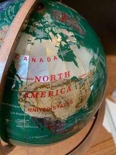 BRAND NEW decorative globe with semi precious stones (malachite)