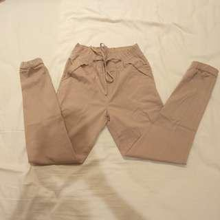 Brown joger pants