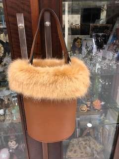 Circle fur bag