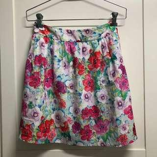 Forever New Floral Skirt (Size 12 AUD)