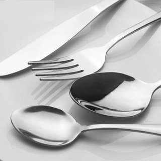 🔥[Restocked] (Sliver) Metal Stainless Steel Cutlery