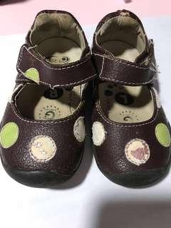Pediped Grip n Go Brown Shoes for Girls size 20