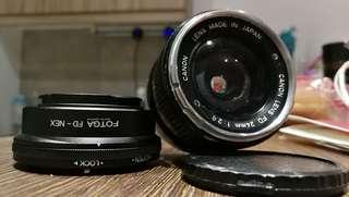 Canon FD 24mm F2.8 with sony adaptor