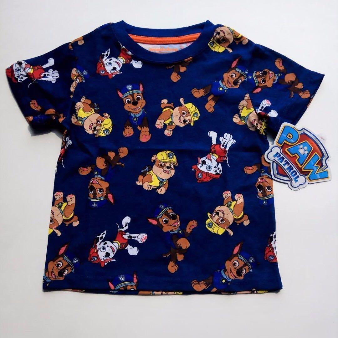 現貨包郵~ 2T Paw Patrol 深藍色印花 T-shirt