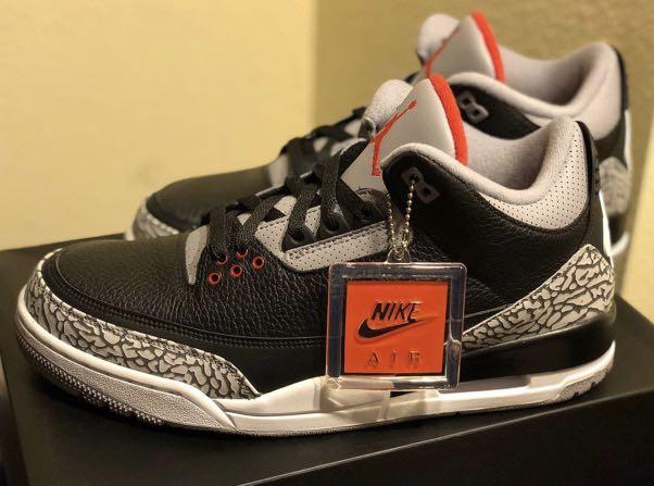 best cheap 0228e 4d4e2 Air Jordan 3 Black Cement, Men s Fashion, Footwear, Sneakers on Carousell