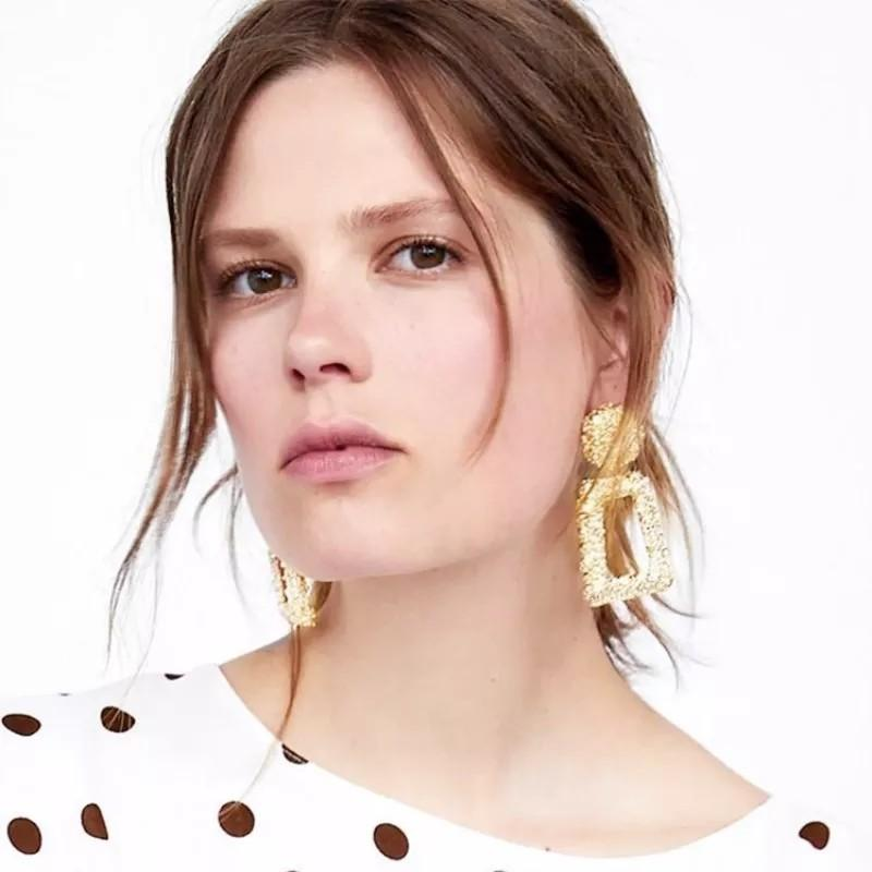 Anting Zara Anting Syahrini Geometric Vintage Drop Earrings