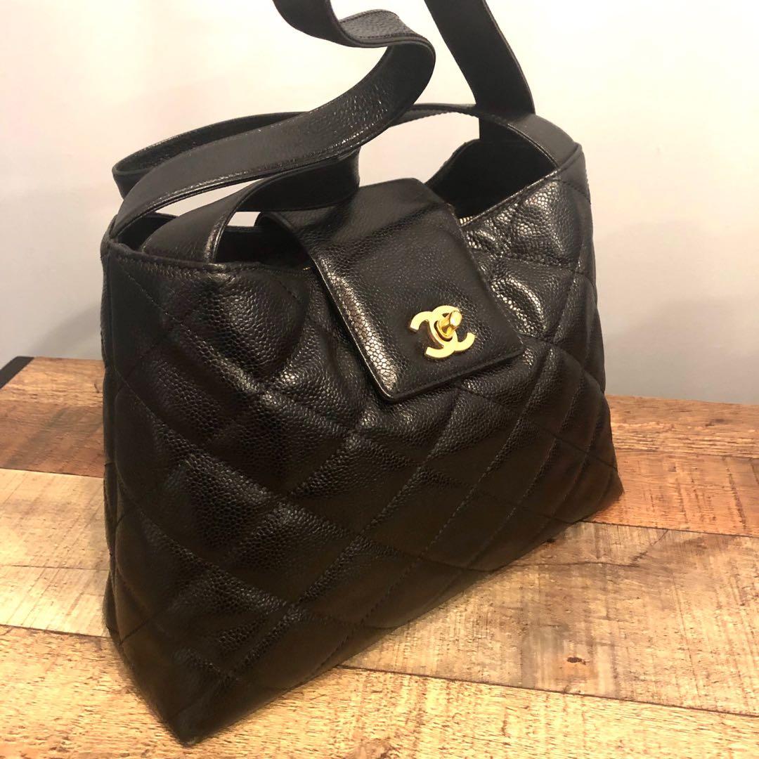 17dd3b12fda4 Authentic Chanel Caviar Tote Bag w 24k Gold Hardware, Luxury, Bags ...