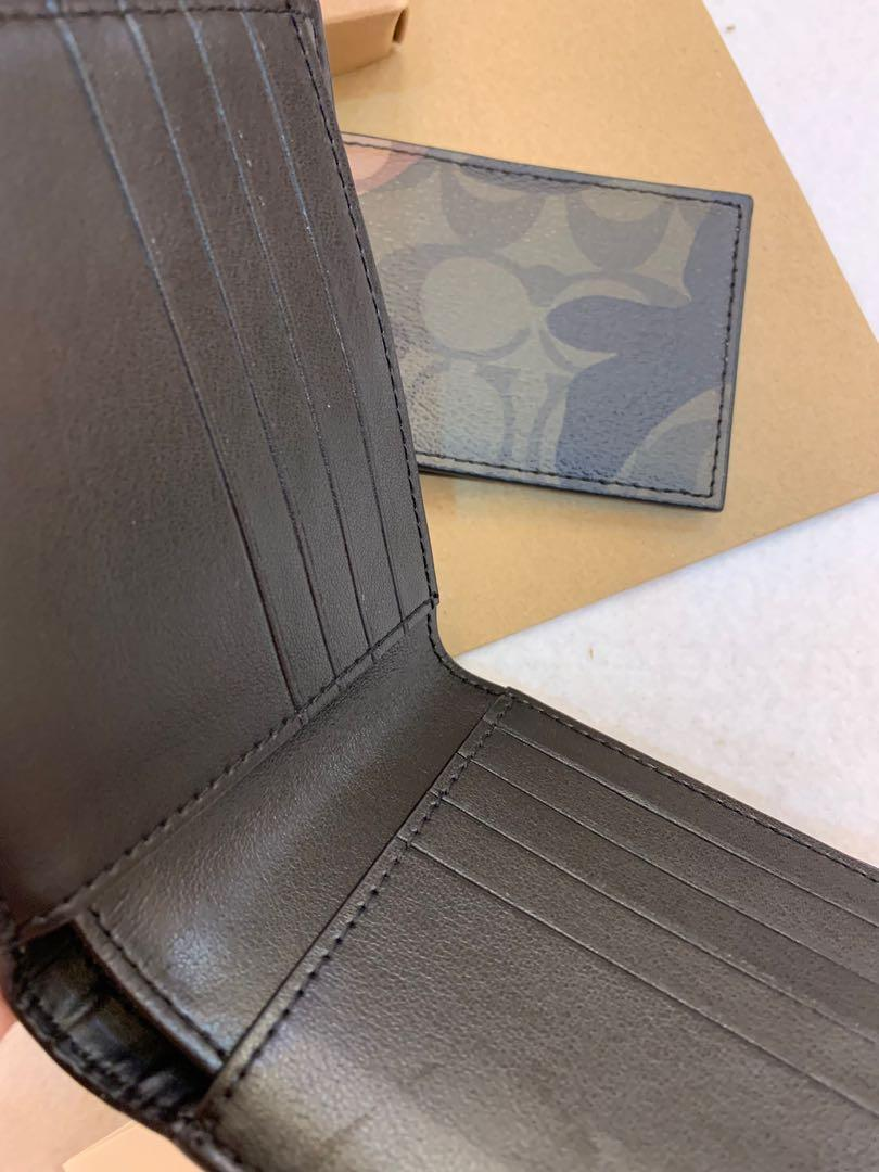 Authentic coach men wallet 11958 green army
