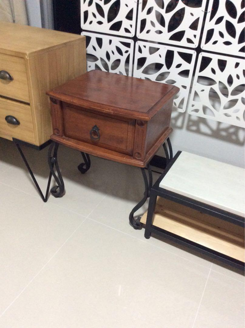 Picture of: Bedside Or Side Table Solid Rosewood With Cast Iron Legs Furniture Tables Chairs On Carousell