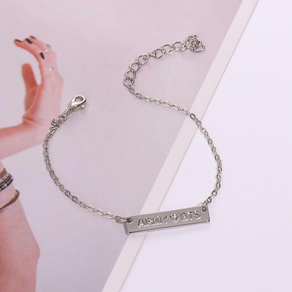 Bracelet bts army necklace silver gold rose gold Korea kpop