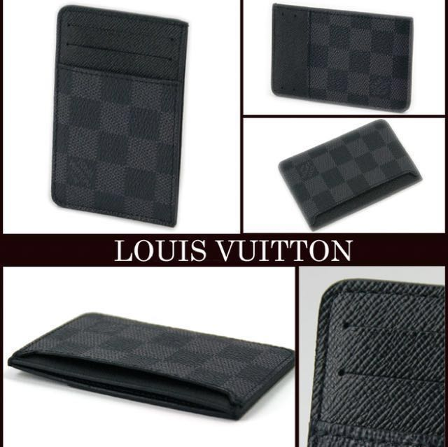 cbb31ef44c43 Brand New Louis Vuitton Damier Graphite Card Holder - N62666