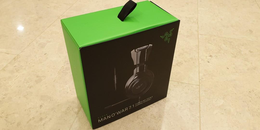 Razer ManO'War 7 1 Surround Sound Gaming Headset (Headband snapped)