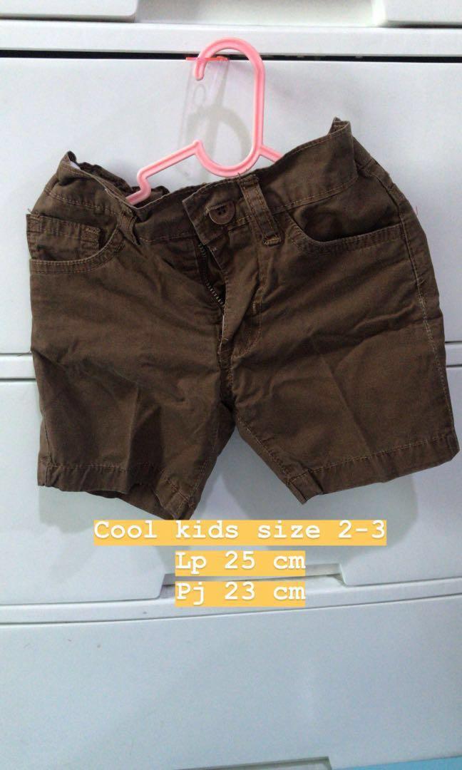 Celana Pendek anak cool kids coklat