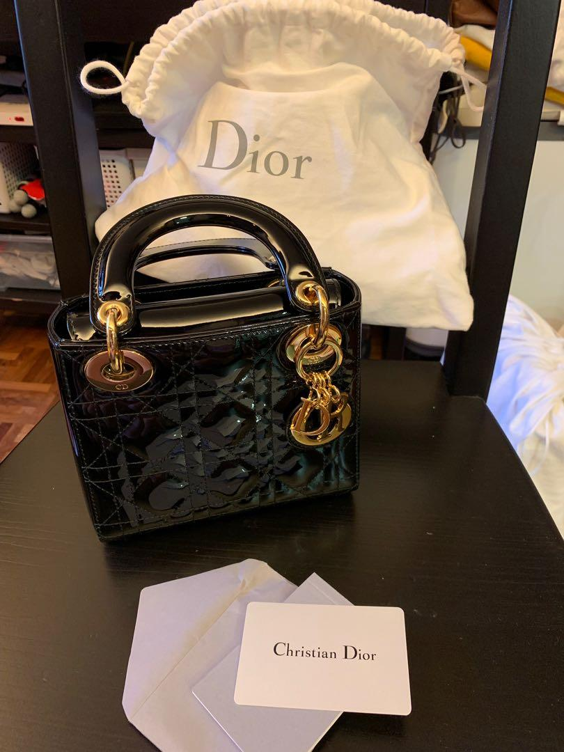 100% authentic select for official top fashion Christian Dior - Mini Lady Dior Calfskin Bag, Women's ...