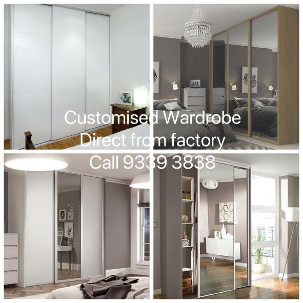 Customised Wardrobe, tv console with feature wall, toilet vanity cabinet, kitchen cabinet, storage cabinet, shoe cabinet, divider and carpentry direct from factory. Full Reno. Enquire now!!
