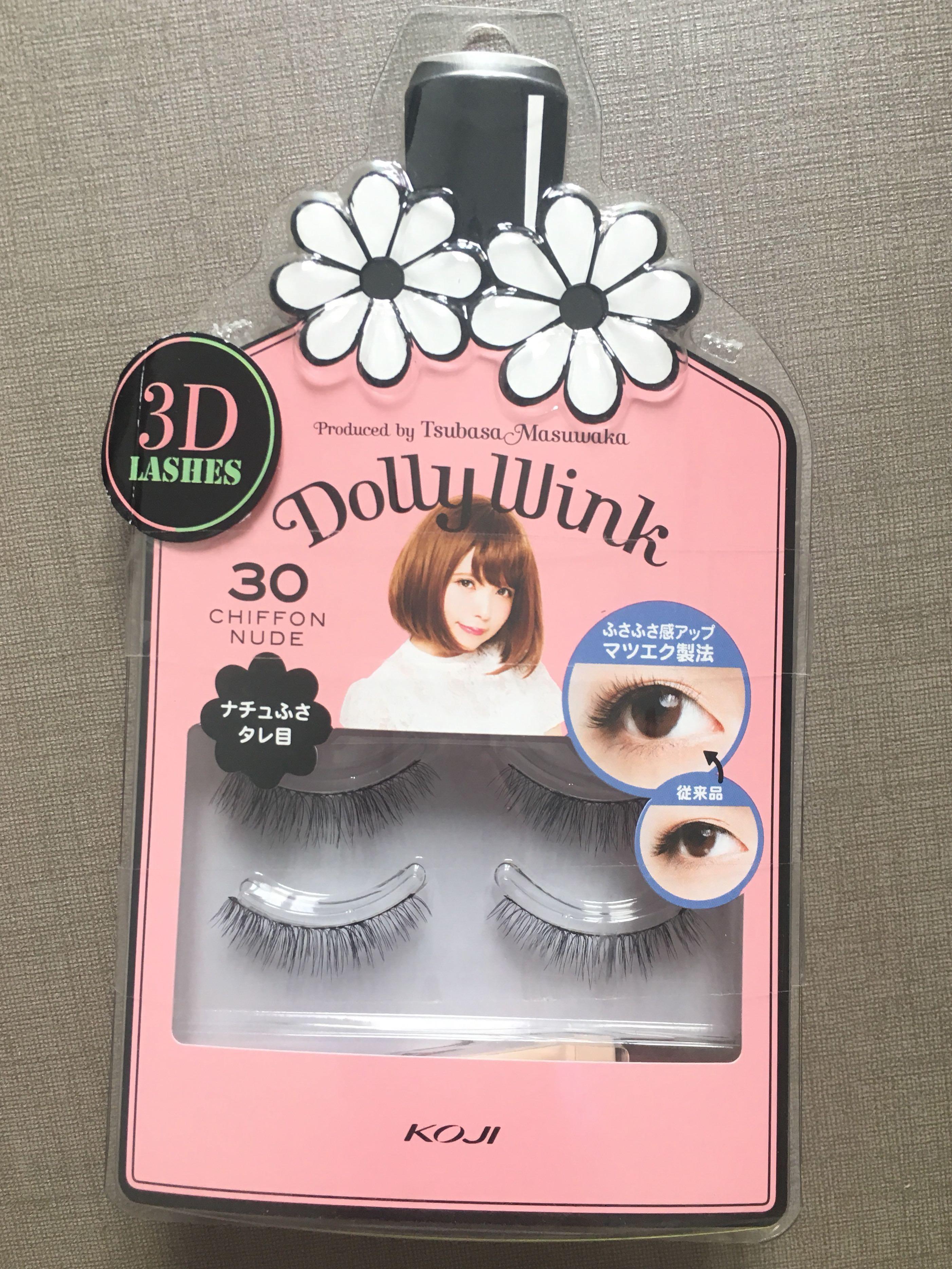 08597b85345 DOLLY WINK 3D LASHES KOJI fake eyelash natural eyelash, Health ...