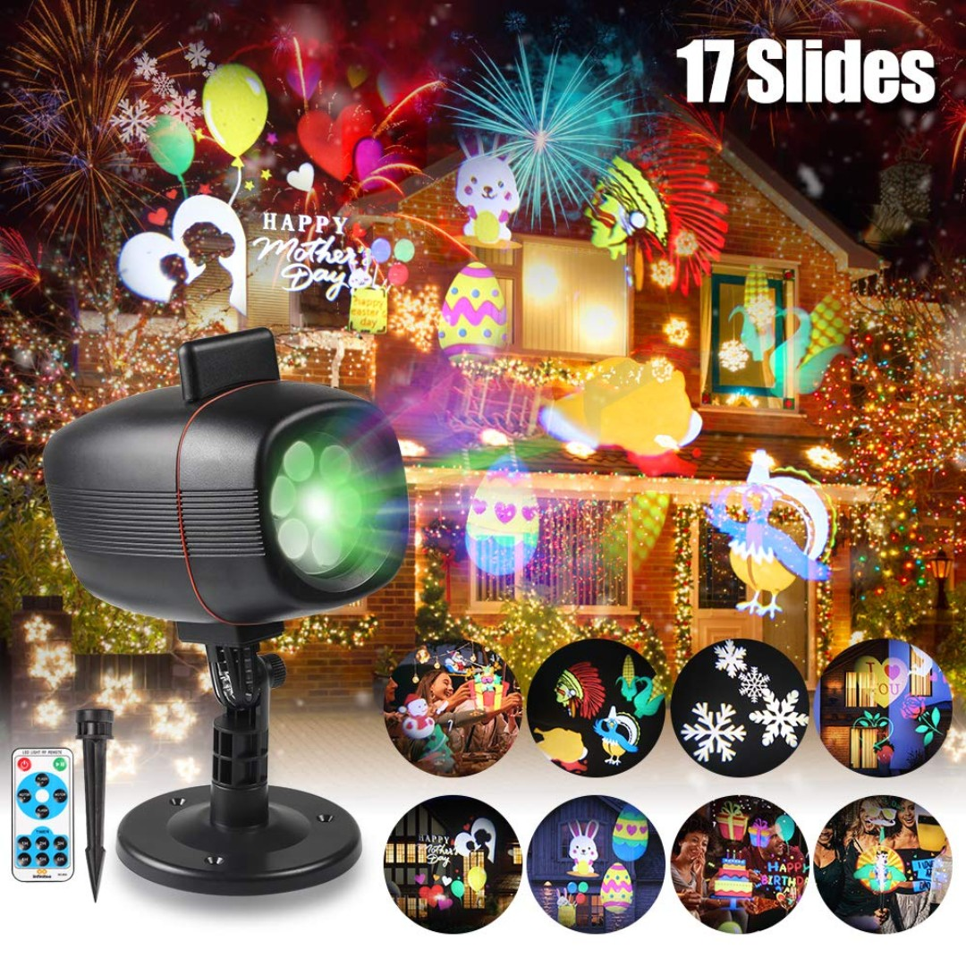 Christmas Projector.72 Easter Projector Lights Infinitoo 17 Patterns Rotating Christmas Projector Spotlight