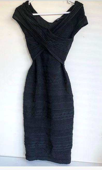 Forever new Koko cross black bodycon dress